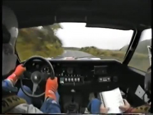 1983 Manx Rallisi Ari Vatanen In-car